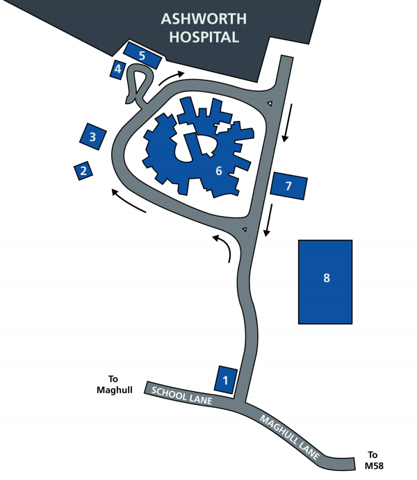 Maghull Health Park map